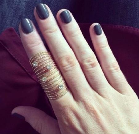 Pippa wearing Gelish 'Fashion Week Chic'